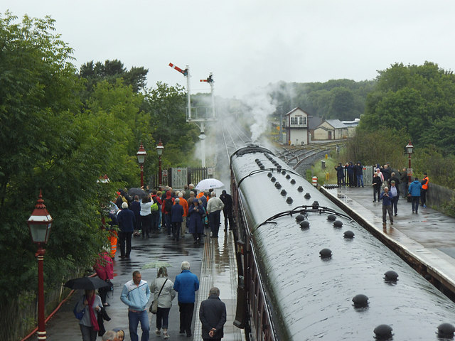 A rainy day at Appleby station