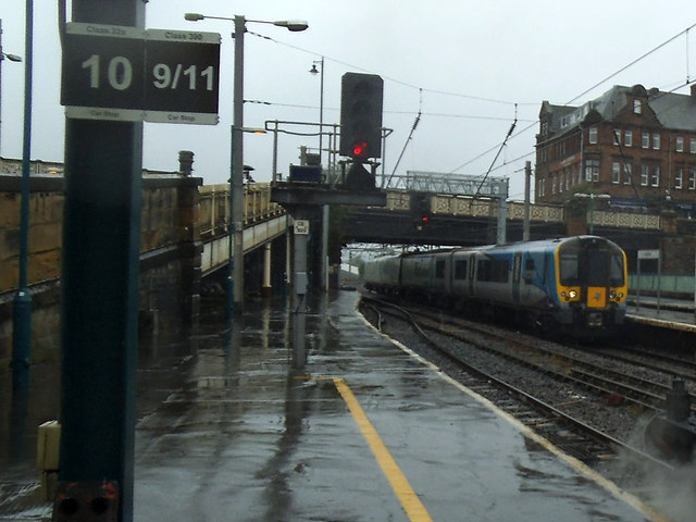 Up Transpennine service at Carlisle
