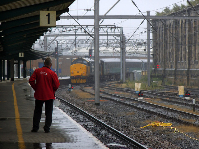 Barrow train leaving Carlisle