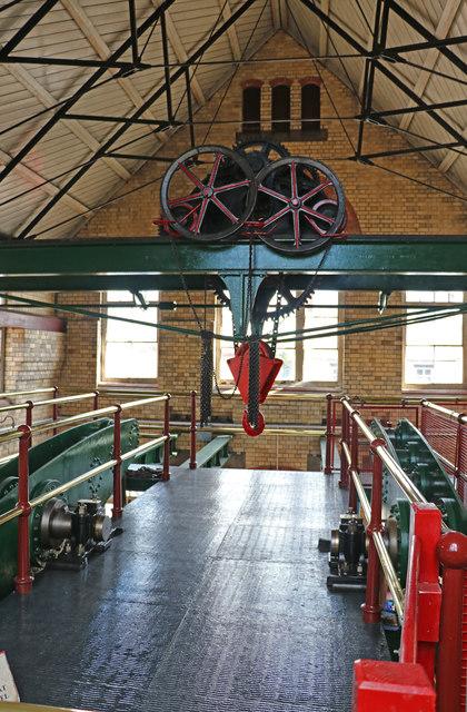 Coleham Head Pumping Station - beam floor