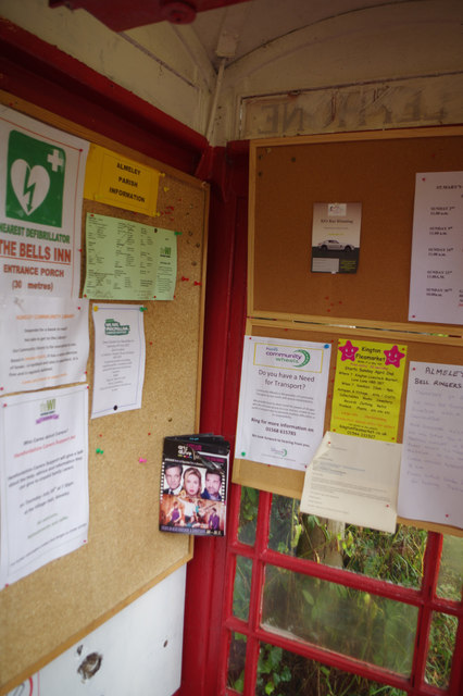 Inside Almeley Information Kiosk