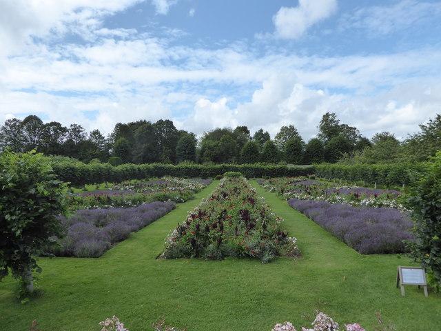 Penshurst Place: the flag garden