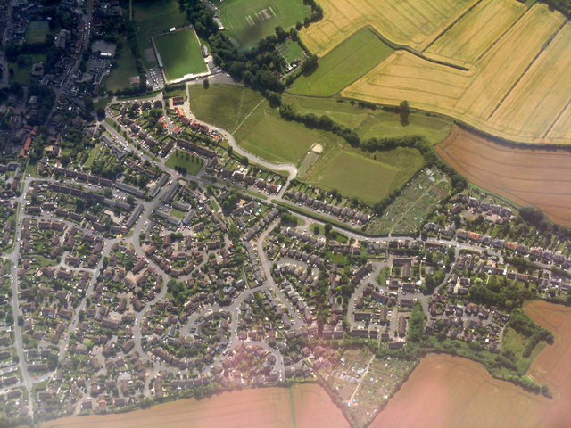Saffron Walden from the air