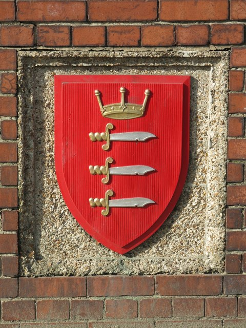 Middlesex coat of arms, Park Royal tube station, Western Avenue, W5