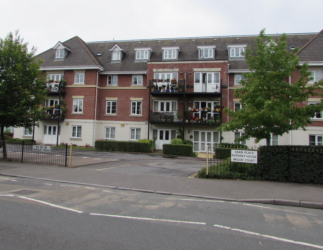 Flats on the west side of Hursley Road, Chandler's Ford