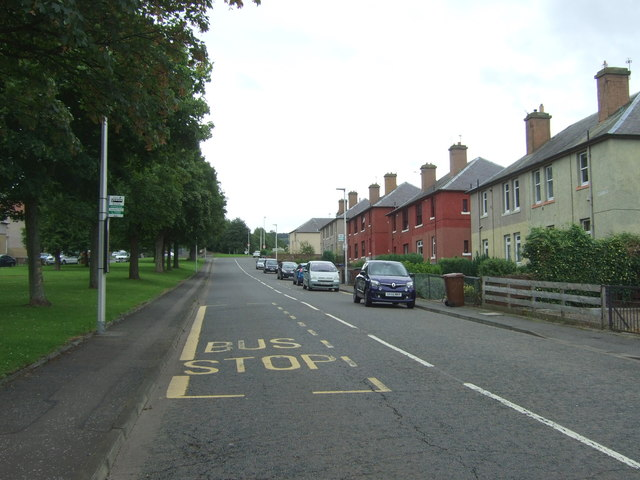 Bus stop and shelter on Mansfield Road, Newtongrange