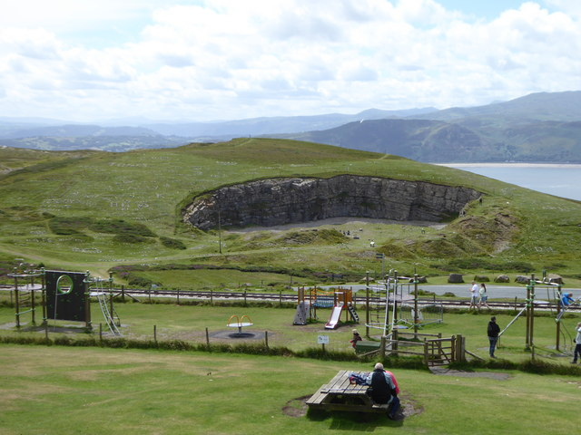 Disused limestone quarry on Great Orme's Head