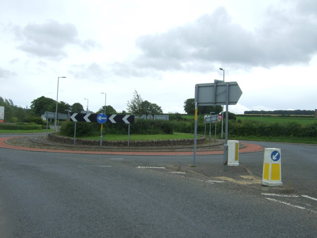 Roundabout on the A6106