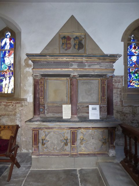 All Saints, Tudeley: tomb