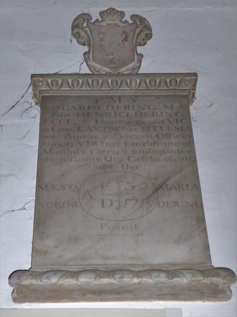 All Saints, Tudeley: memorial (b)