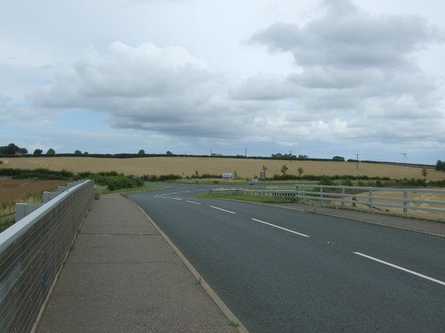 Looking north east on the A6124