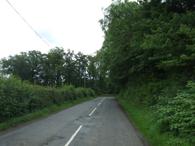 Minor road approaching the A6093, Fordel Dean