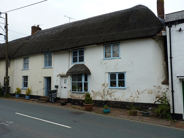 Listed cottages on Church Street in Sidford