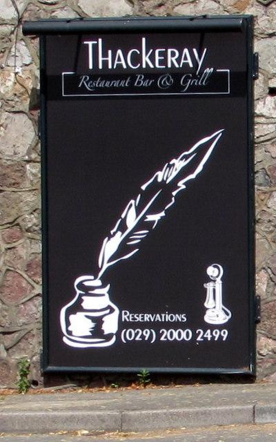 Thackeray name sign, Newport Road, Rumney, Cardiff