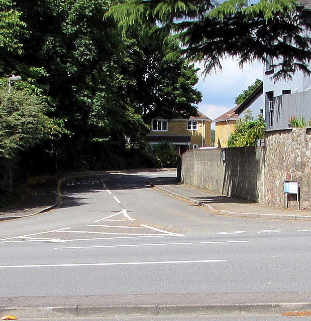 Junction of Castle Rise and Newport Road, Rumney, Cardiff