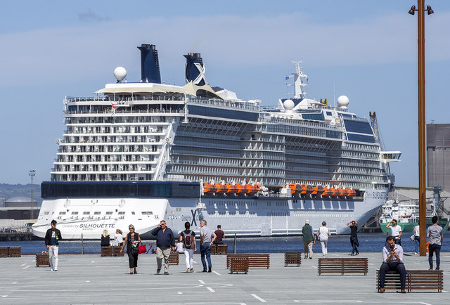 The 'Celebrity Silhouette' at Belfast
