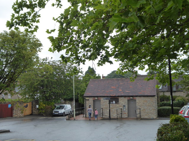 Public conveniences in Much Wenlock town centre car park