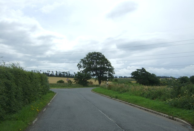 Minor road junction on the B6371