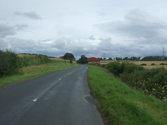 Minor road near Templehall
