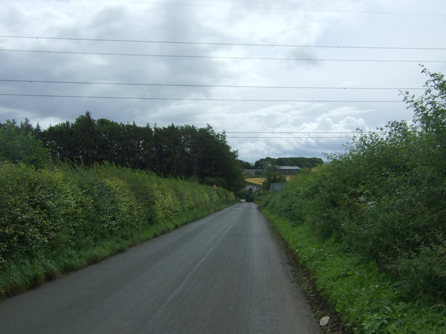 Minor road towards Glenkinchie Distillery