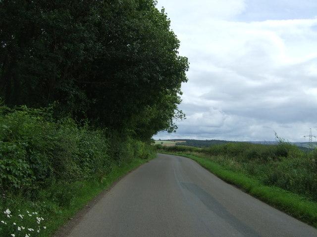 Minor road towards West Saltoun