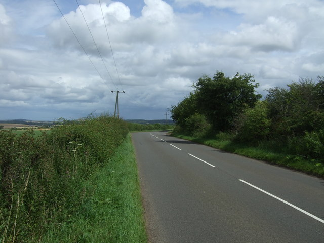 Heading north east on the B6355 from East Saltoun