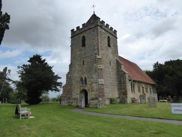 St Thomas à Becket, Capel: churchyard (c)