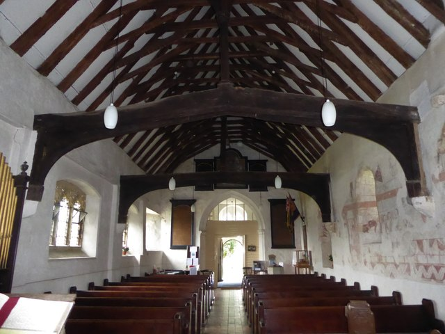 Inside St Thomas à Becket, Capel (a)