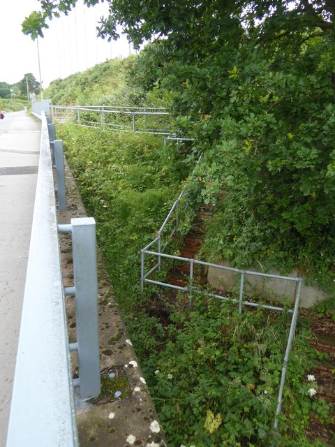 Emergency stairs between M5 and Old Rydon Lane
