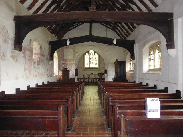 Inside St Thomas à Becket, Capel (c)