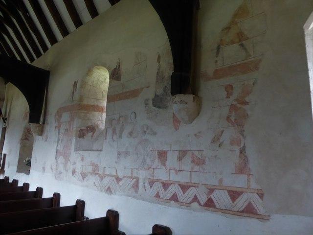 Inside St Thomas à Becket, Capel (d)