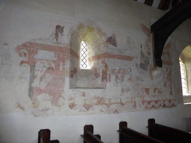 Inside St Thomas à Becket, Capel (j)