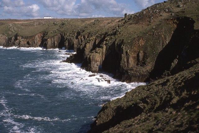 The cliffs below Land's End