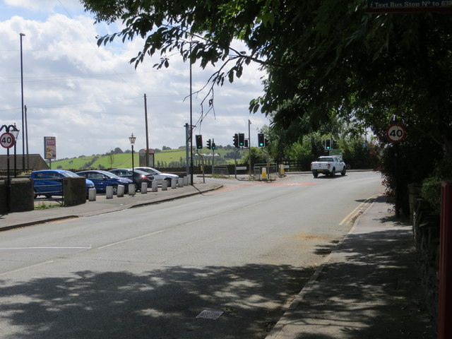 Back Lane joining Whitehall Road (A58) at Upper Moor Side