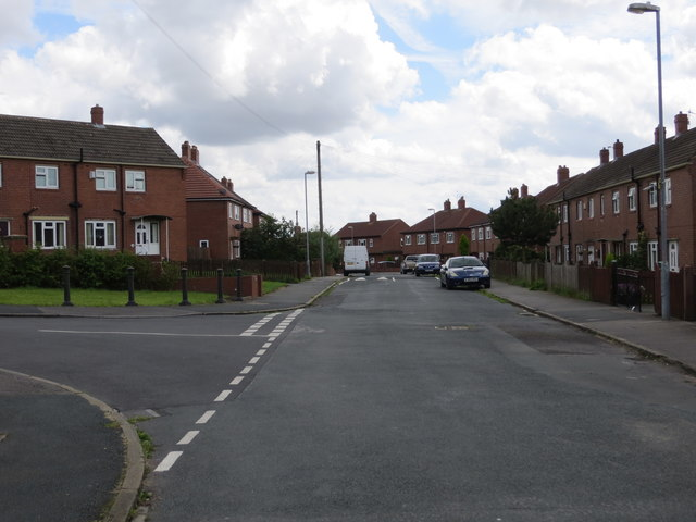 Withens Road at its junction with Nussey avenue in Birstall