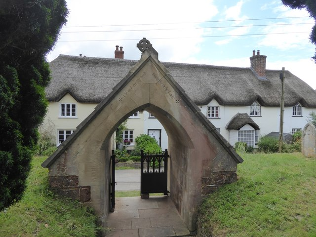 The lych gate of Sowton church