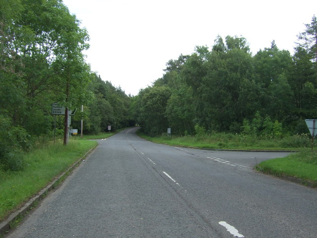 Road junction on the B6355