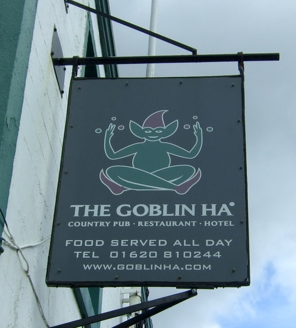 Sign for the Goblin Ha' Hotel, Gifford