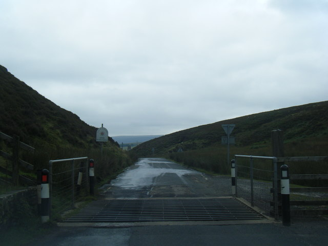 Trough of Bowland cattle grid at boundary