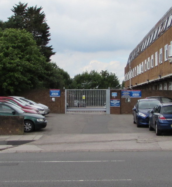 Yard entrance, Rumney Police Station, Cardiff