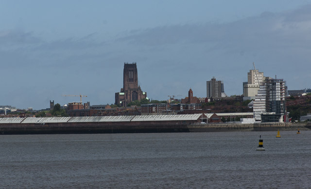A view of Liverpool from across the river