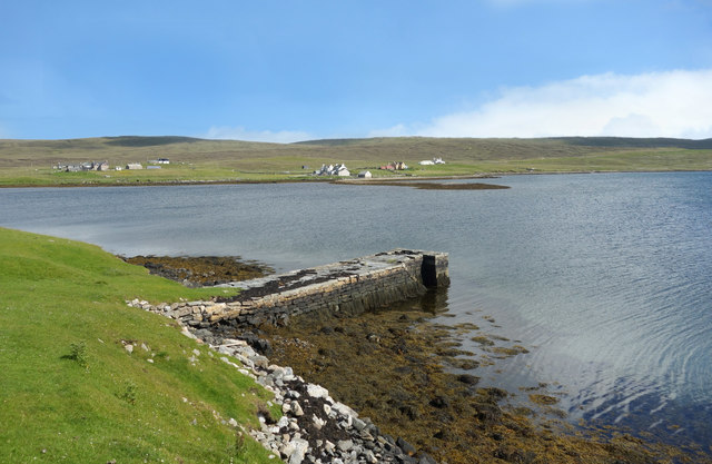 Pier on Southladie Voe