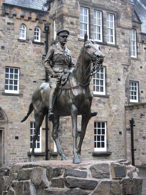 Earl Haig's statue in Edinburgh Castle