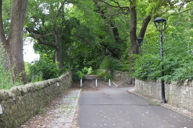 Start of path to Corstorphine Hill