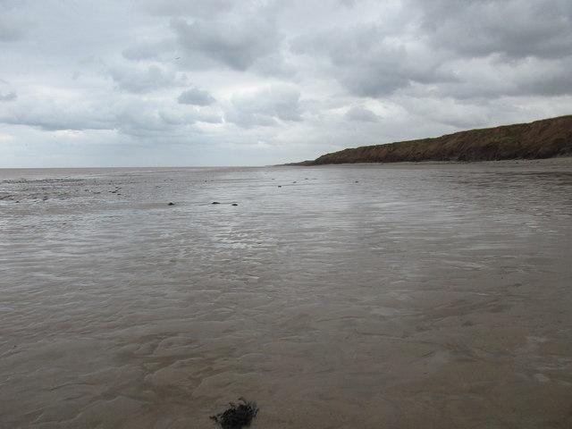 The beach below Garton Gap