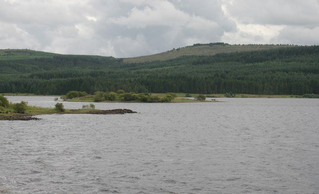 Island in Carron Valley Reservoir