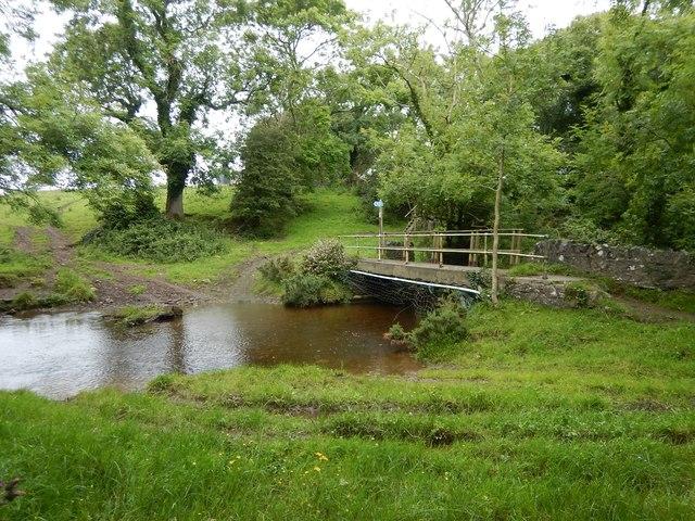 Footbridge over the Santon Burn