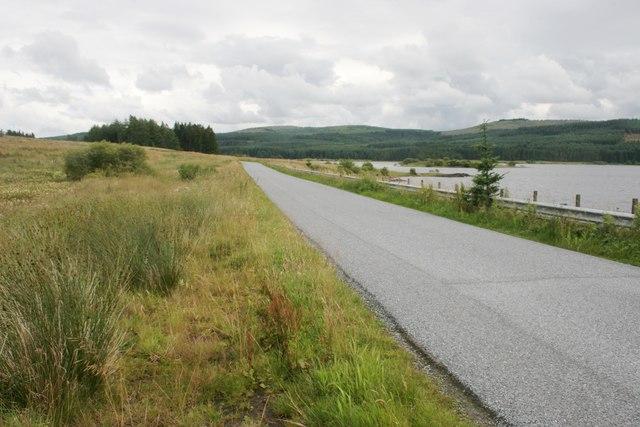 B818 beside Carron Valley Reservoir