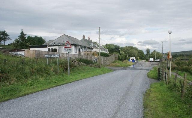 Entering Carron Valley