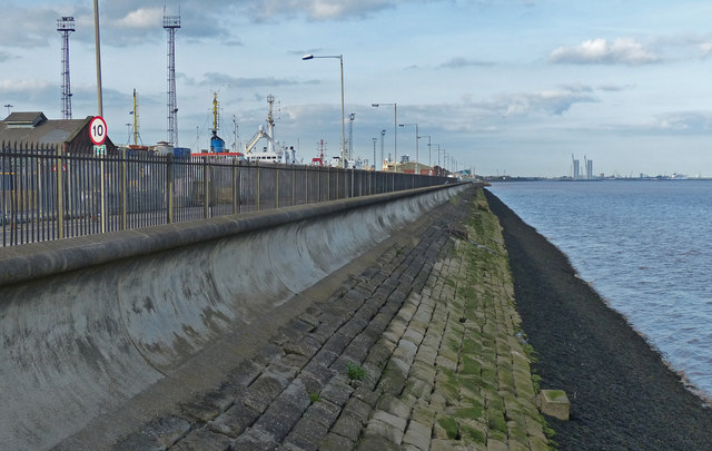 Humber shoreline near the William Wright Dock